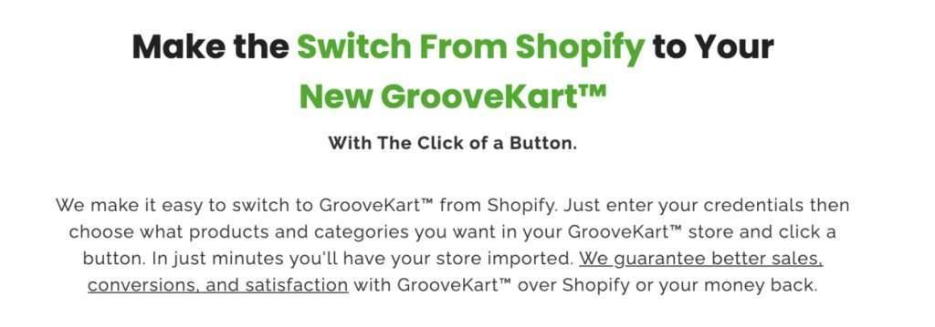 Make the Switch From Shopify to Your New GrooveKart