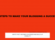 5 Steps to Make Your Blogging a Success