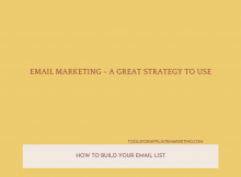 Email Marketing - A Great Strategy to Use