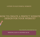 4 Steps to Successful Website