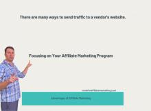 Focusing on Your Affiliate Marketing Program
