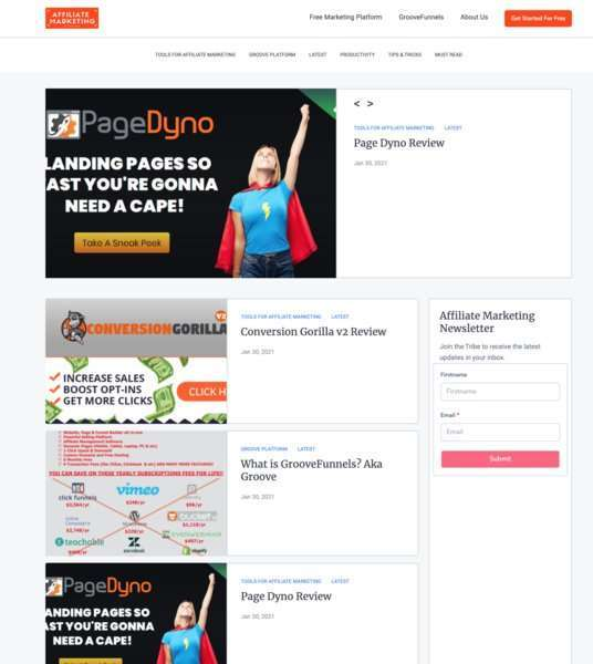 Build Your Free Blog on Groove