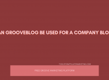 Can GrooveBlog Be Used For A Company Blog